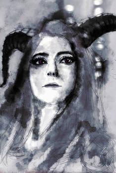 2 of 3 version of MariahMallad (Momokun) portrait.