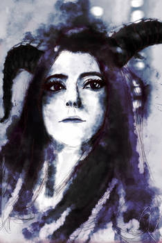 3 of 3 version of MariahMallad (Momokun) portrait.
