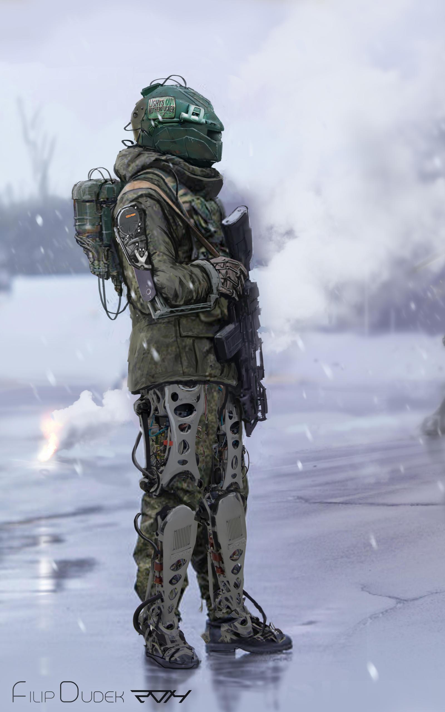 суровый чоткий солдат
