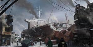 ToTheNorth  - cargo ship village