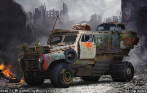 post apocalyptic vehicle by 5ofnovember