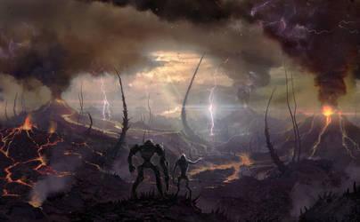 Ashfall Plains by 5ofnovember