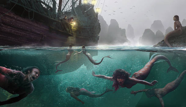Pirates of the Undead Seas - mermaids