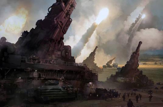 artillery barrage