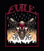 Evile t-shirt design by Nemons