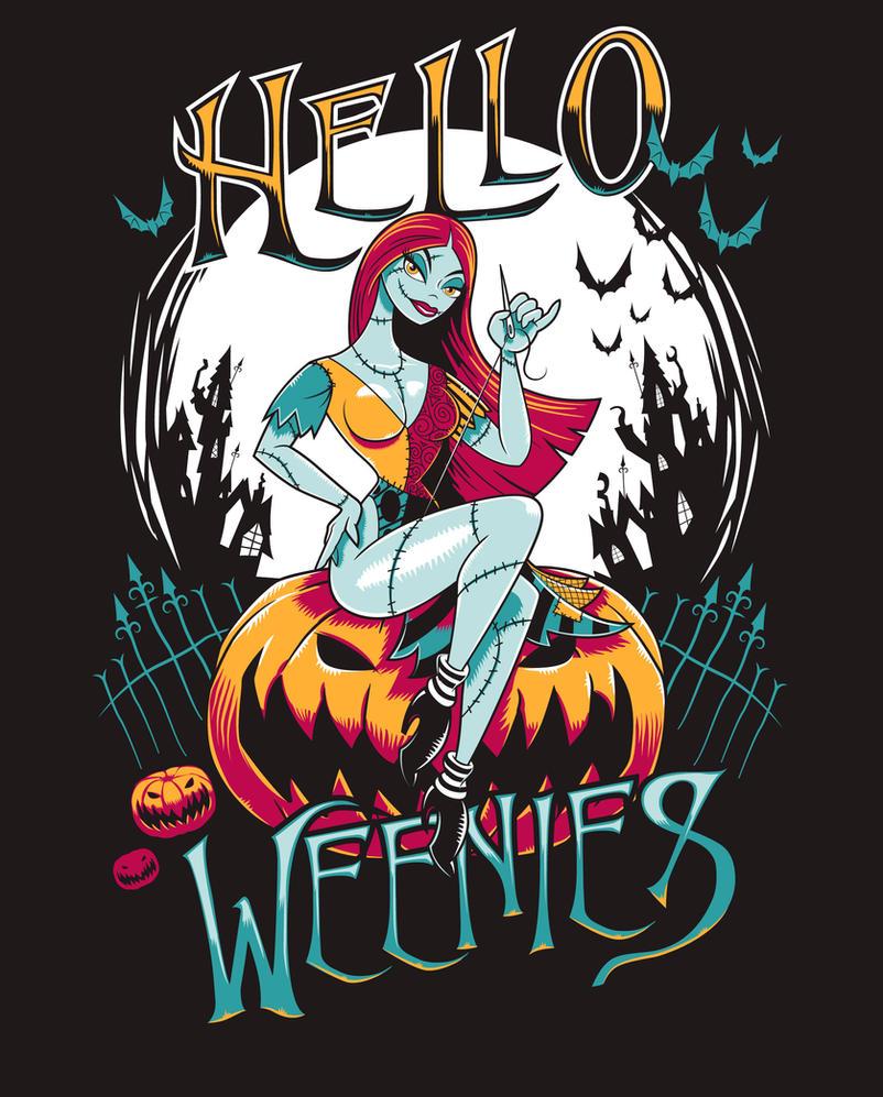 Hello Weenies T-shirt by Nemons