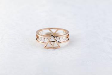 14k Gold Triforce Ring