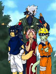 NaruPets - Team Kakashi by AlbaAragon