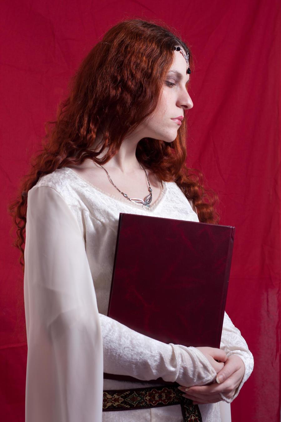 Fantasy Stock IX with book by DanielleFioreModel