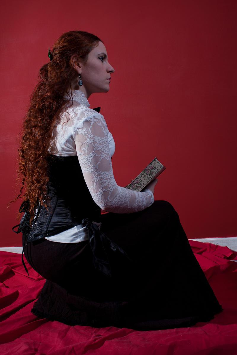 Edwardian sitting stock III by DanielleFioreModel