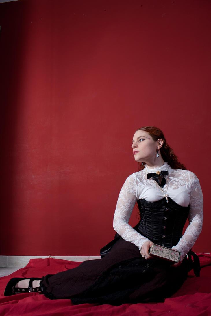 Edwardian sitting stock I by DanielleFioreModel