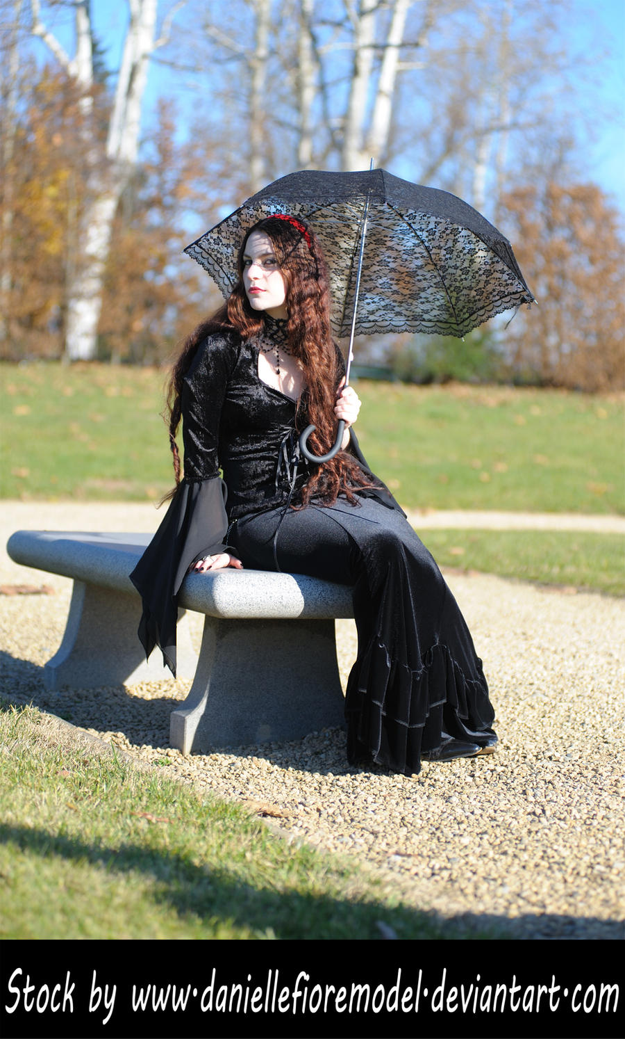 Gothic Lace Stock V by DanielleFioreModel