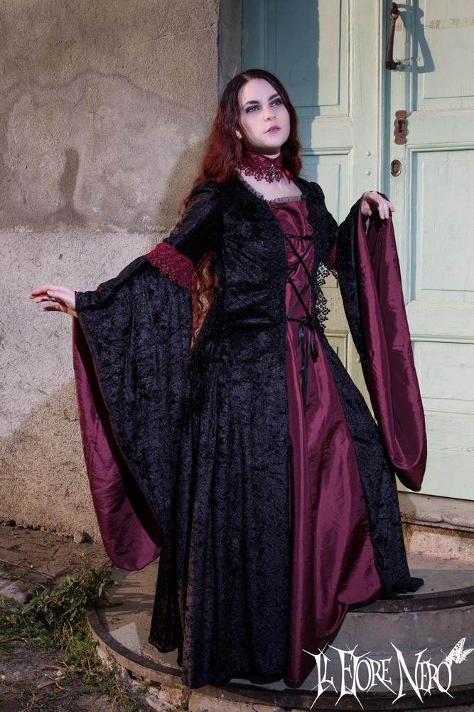 Gothic dress Amaranth by DanielleFioreModel