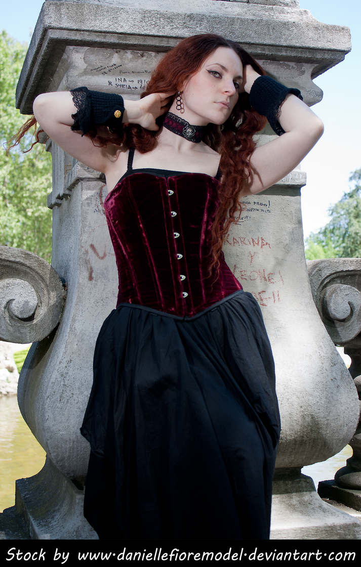 Romantic Goth Stock 1 by DanielleFioreModel