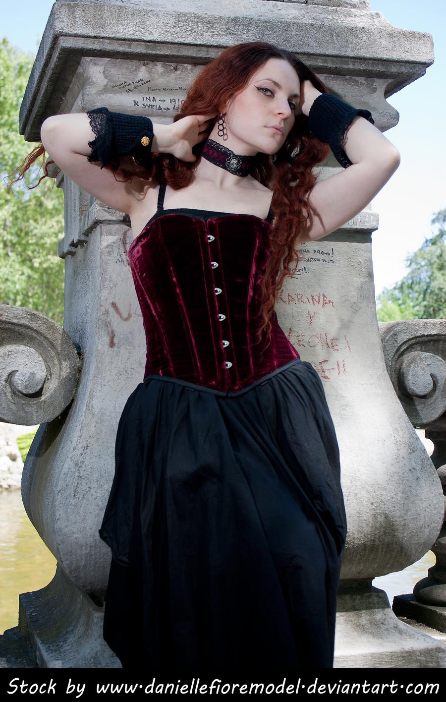 Romantic Goth Stock 1 by DanielleFioreModel