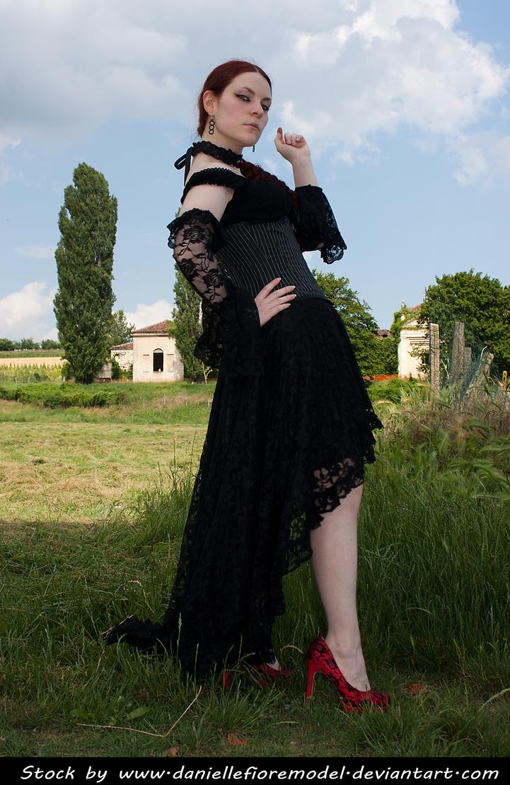 Black Lace Stock II by DanielleFioreModel