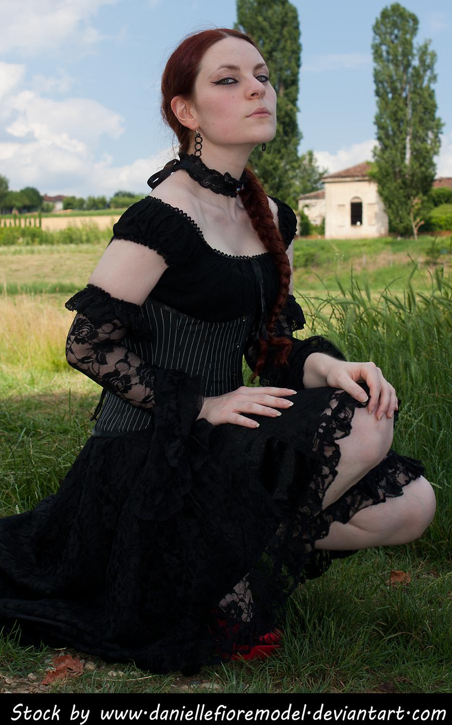 Black Lace Stock III by DanielleFioreModel