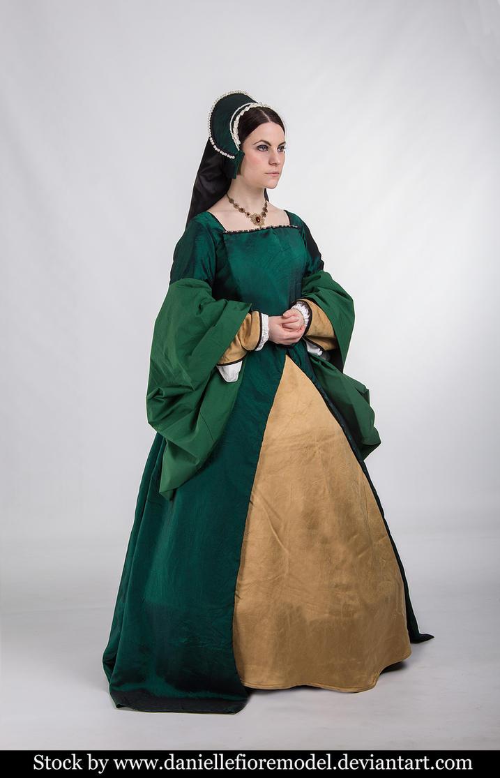 Green Tudor stock 2 by DanielleFiore