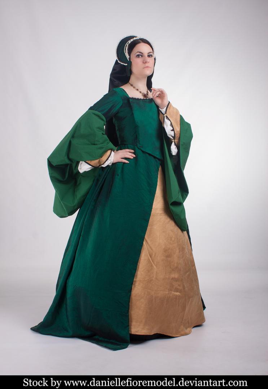 Green Tudor stock 3 by DanielleFioreModel