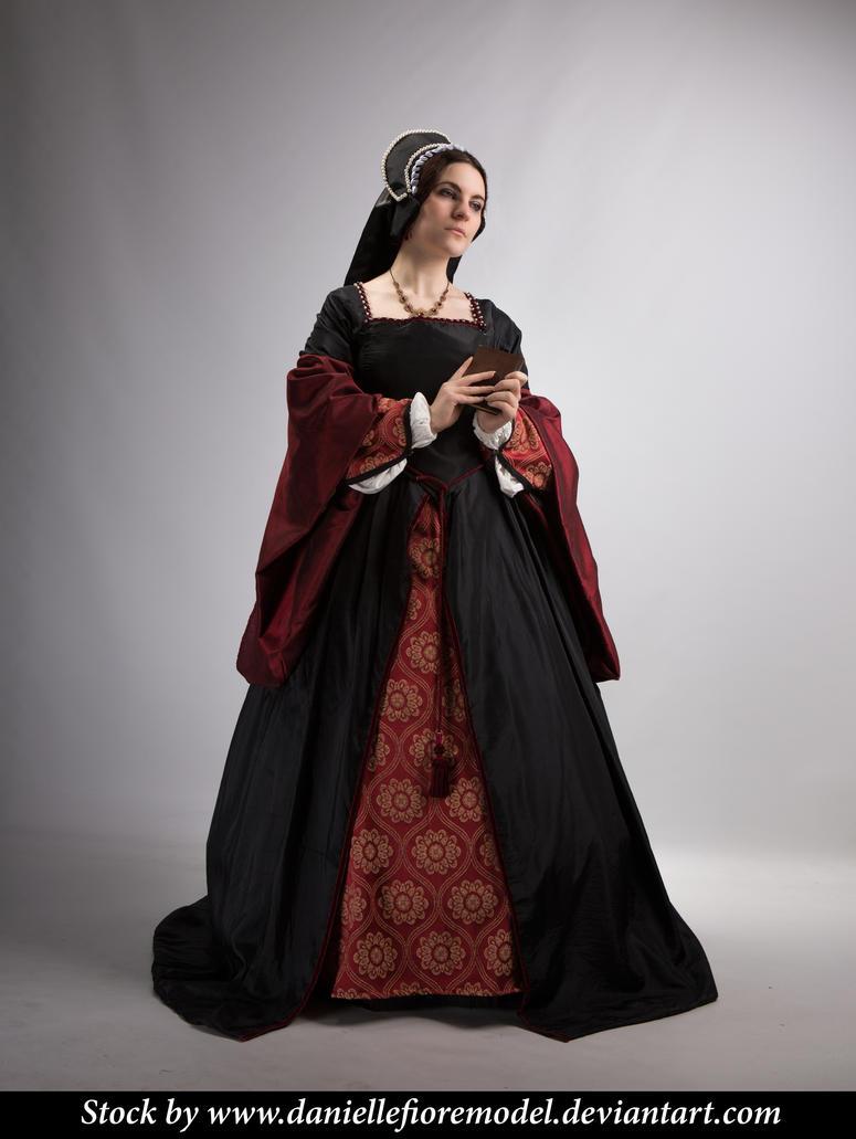 Black Tudor Stock 3 by DanielleFiore