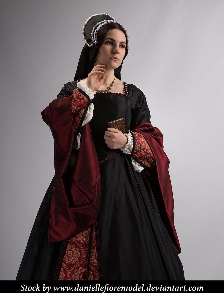 Black Tudor Stock 4 by DanielleFiore
