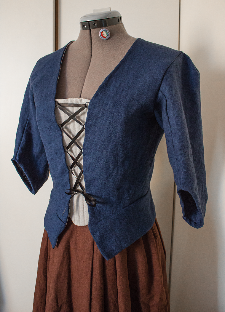 18th century linen jacket and skirt by DanielleFiore