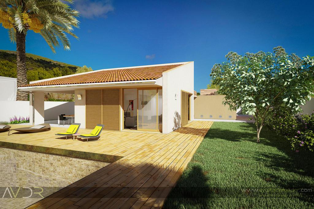 Render casa marta vista del jardin by avistaderender on for Casas jardin del mar