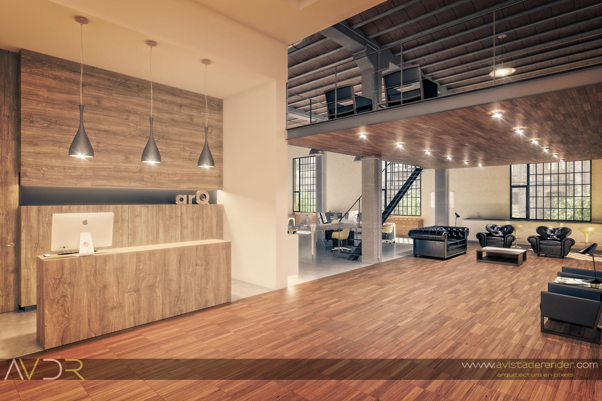 Render Estudio Arquitectura Recepcion By Avistaderender