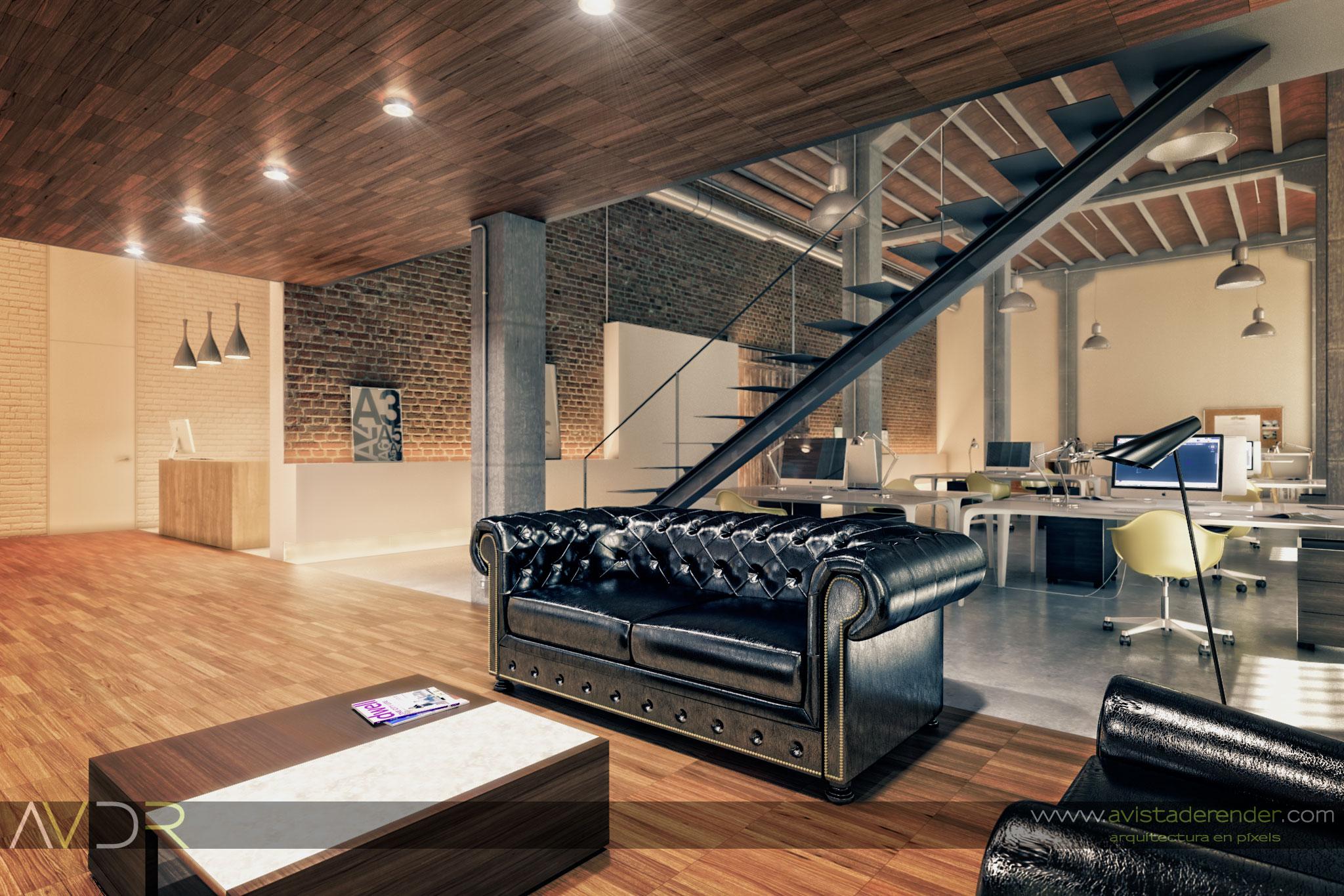 Render Estudio Arquitectura Zona De Descanso By