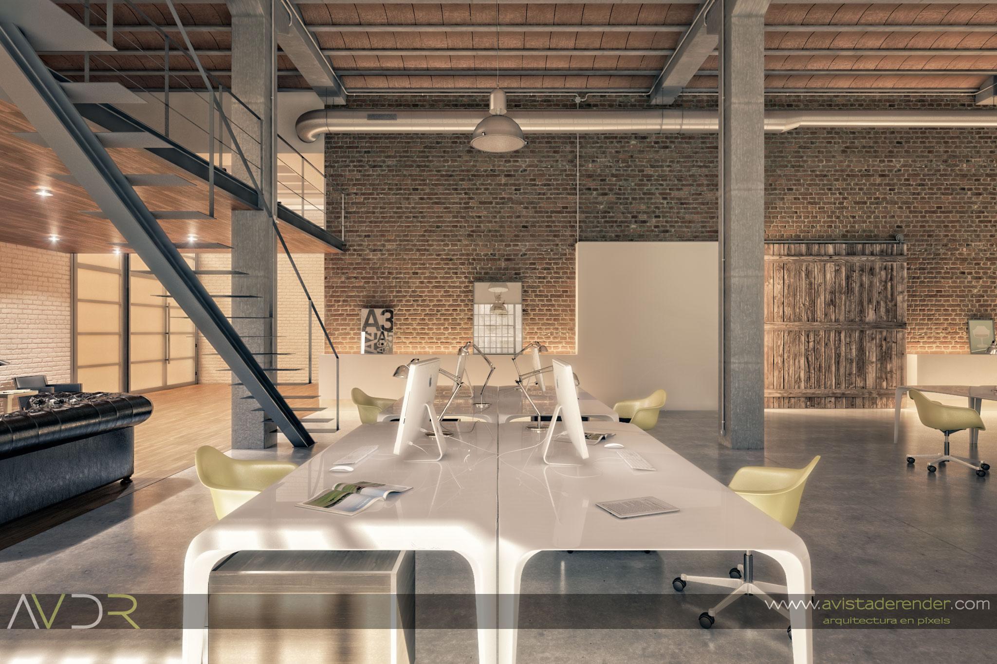 Render estudio arquitectura mesas de trabajo by - Mesas de estudio ...