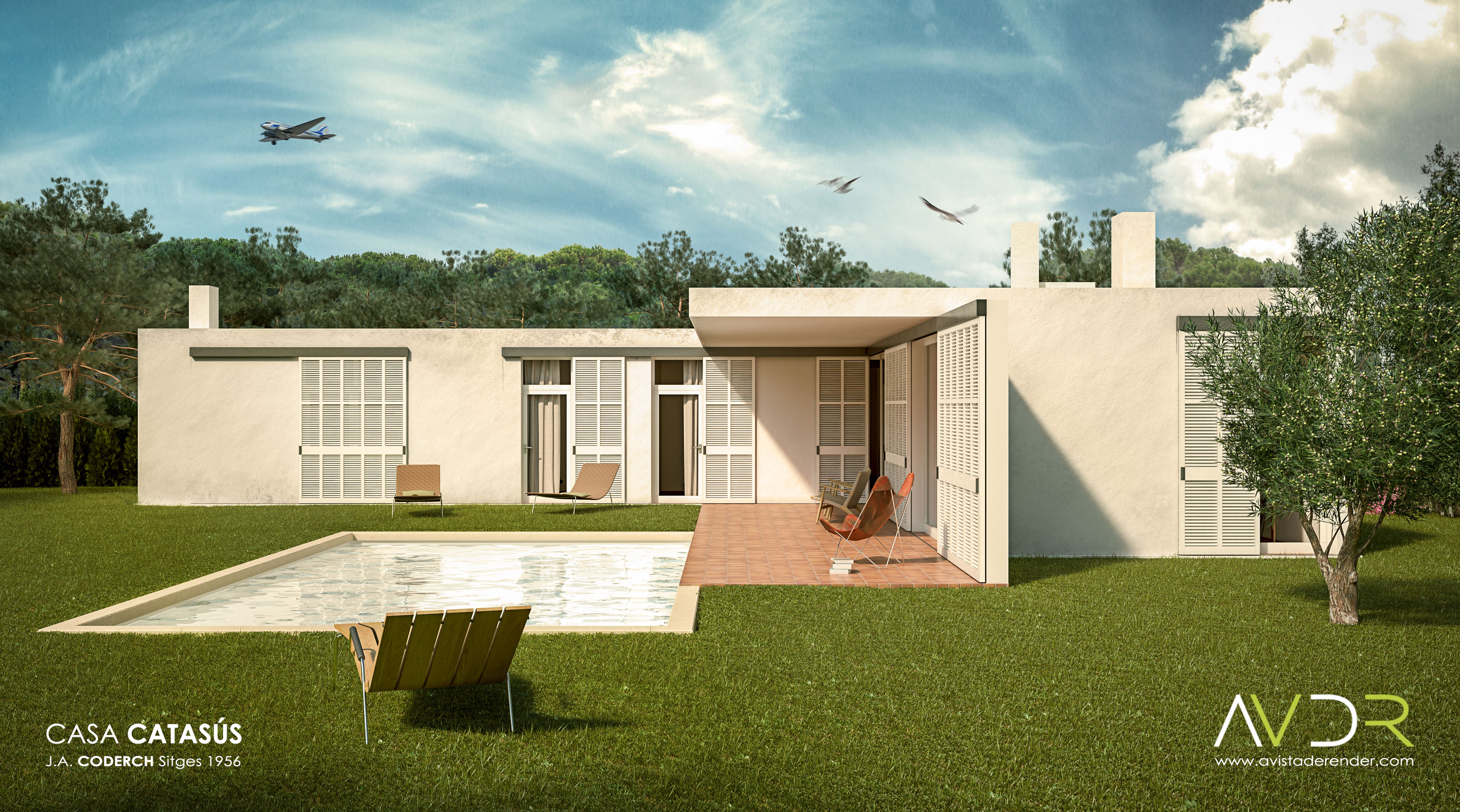 Casa catasus vista lateral by avistaderender on deviantart - Arquitecto sitges ...