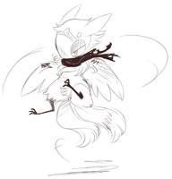 Sketch For Ferretrun by Dragonpunk15