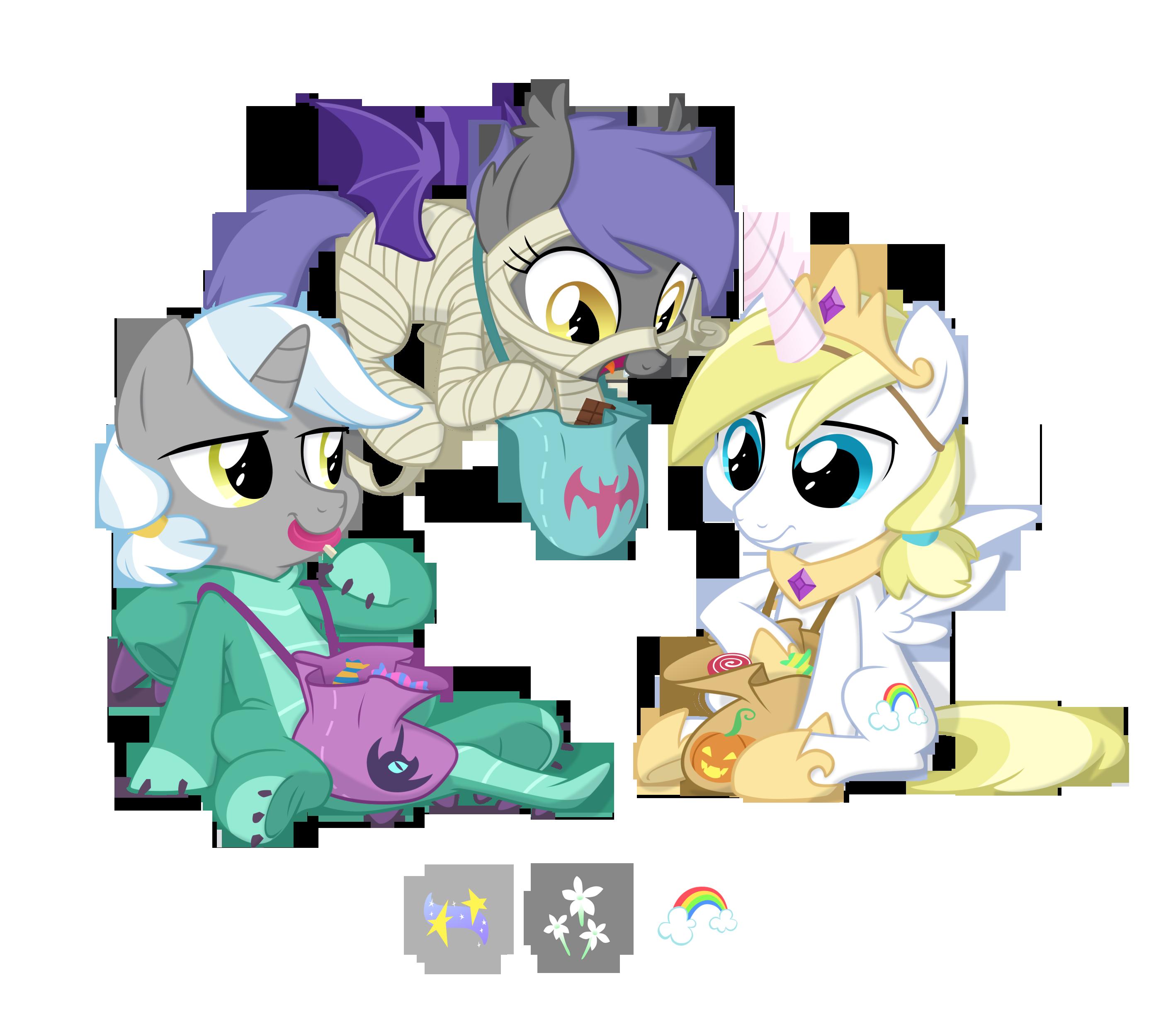 Spooky Trio by Equestria-Prevails