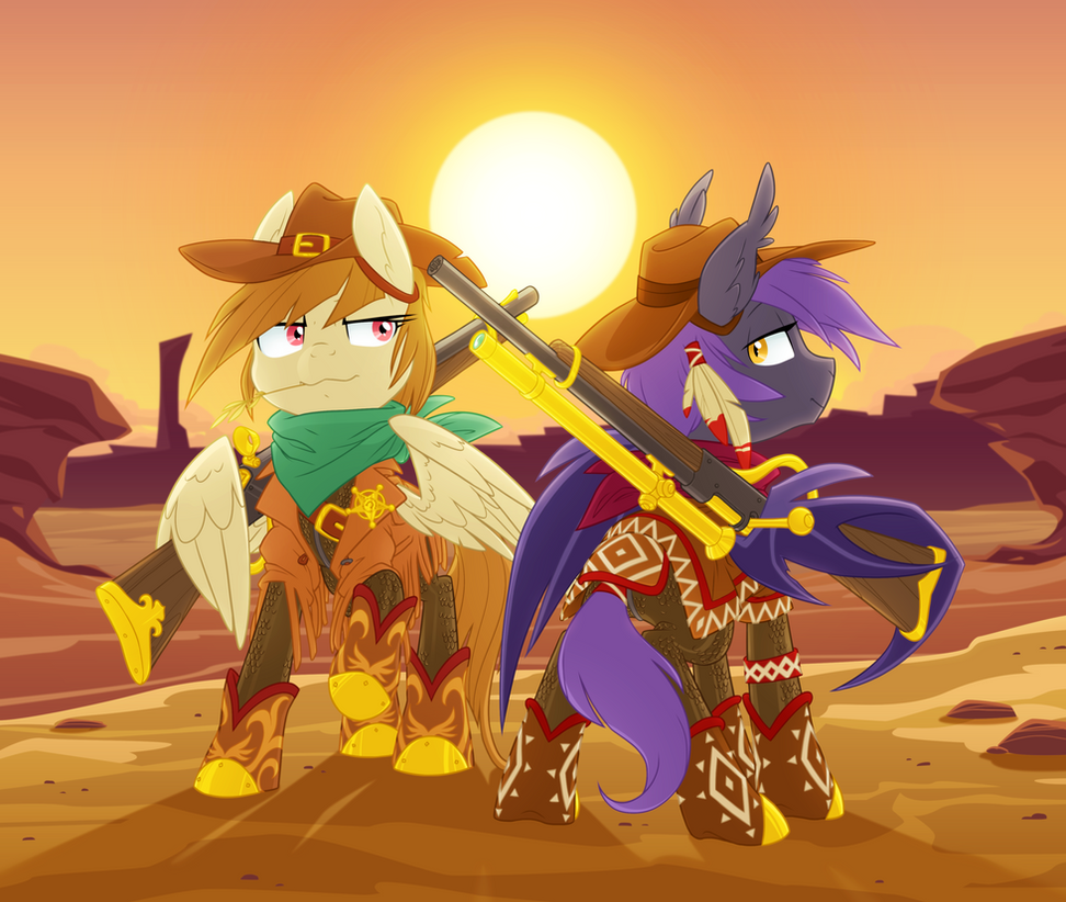 Golden Riders of the Frontier by Equestria-Prevails