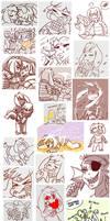 UT Doodle Dump by Equestria-Prevails