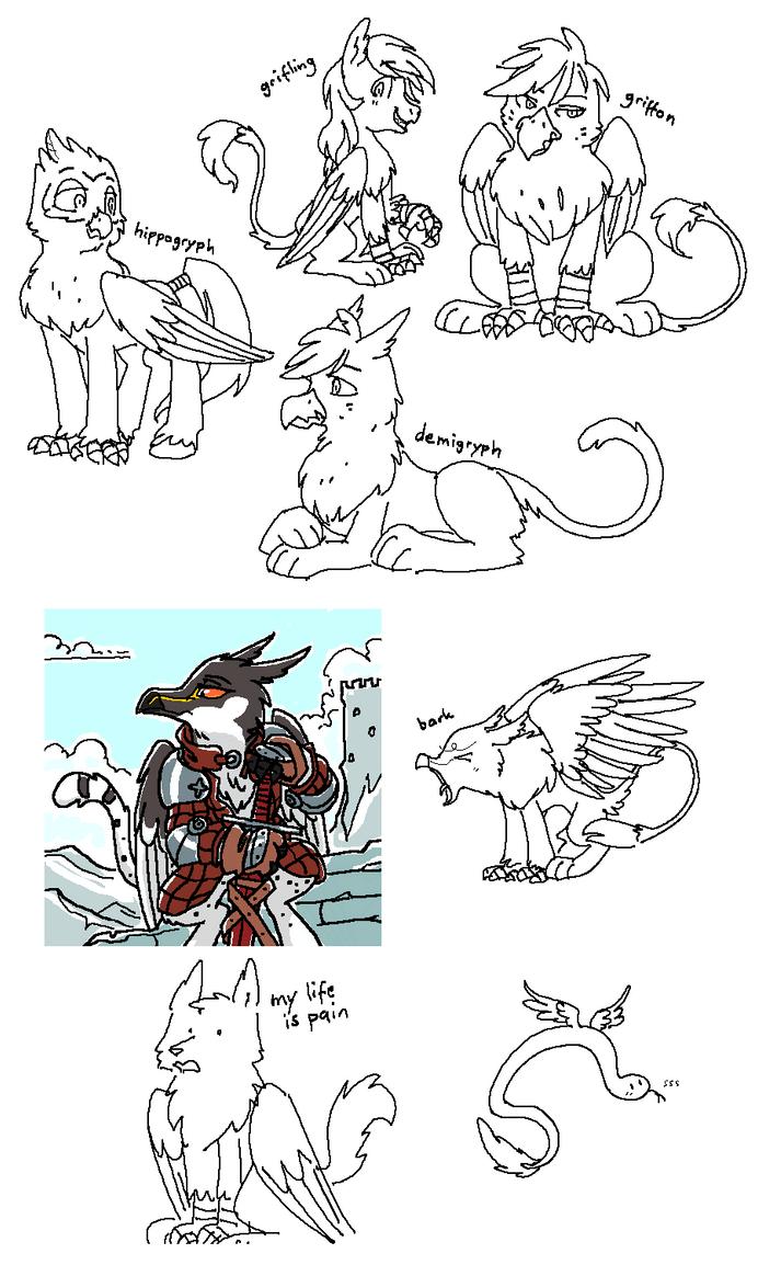 Catbirb Doodles by Equestria-Prevails