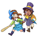 Bow Kid and Hat Kid