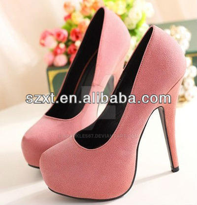 Girls Pink High Heel Shoes