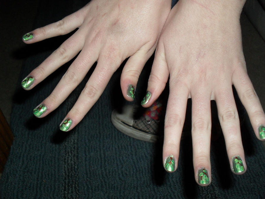 Poison Ivy nails by Birghita13 on DeviantArt