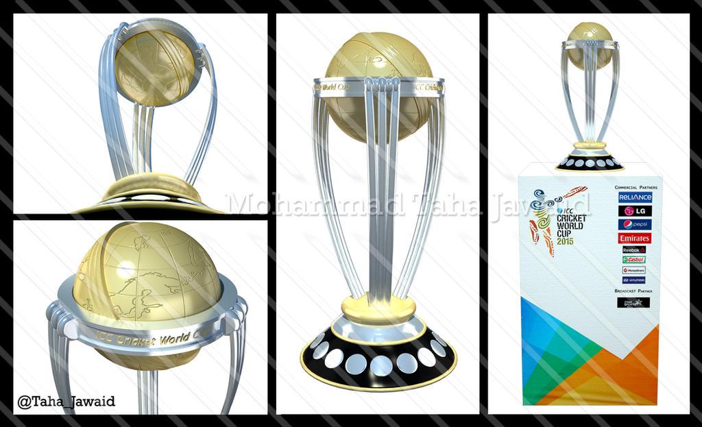ICC Cricket World Cup 2015 Trophy 3D Model By TahaJawaid