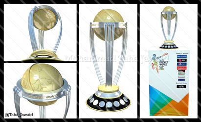 ICC Cricket World Cup 2015 Trophy 3D Model