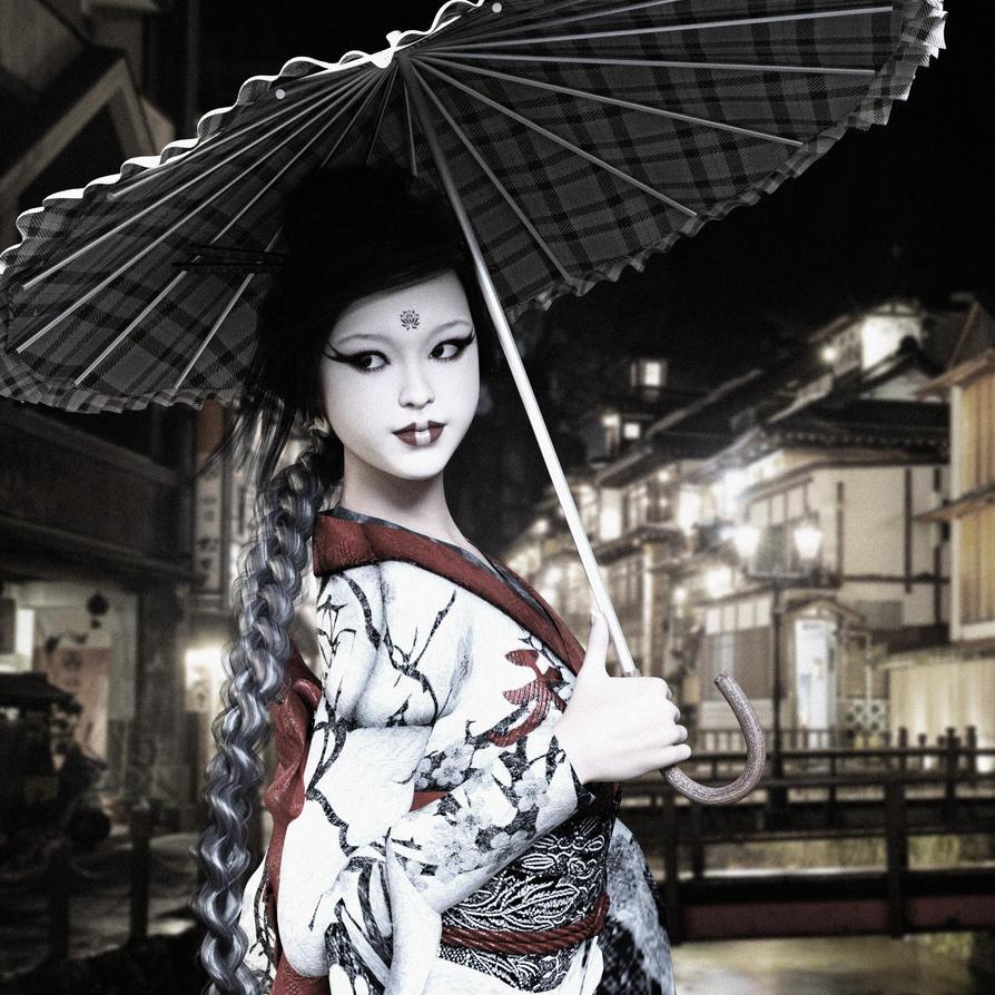 Geisha walk by BlossomPowers