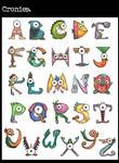 typography plate: cronies. by mutatedMILKFISH