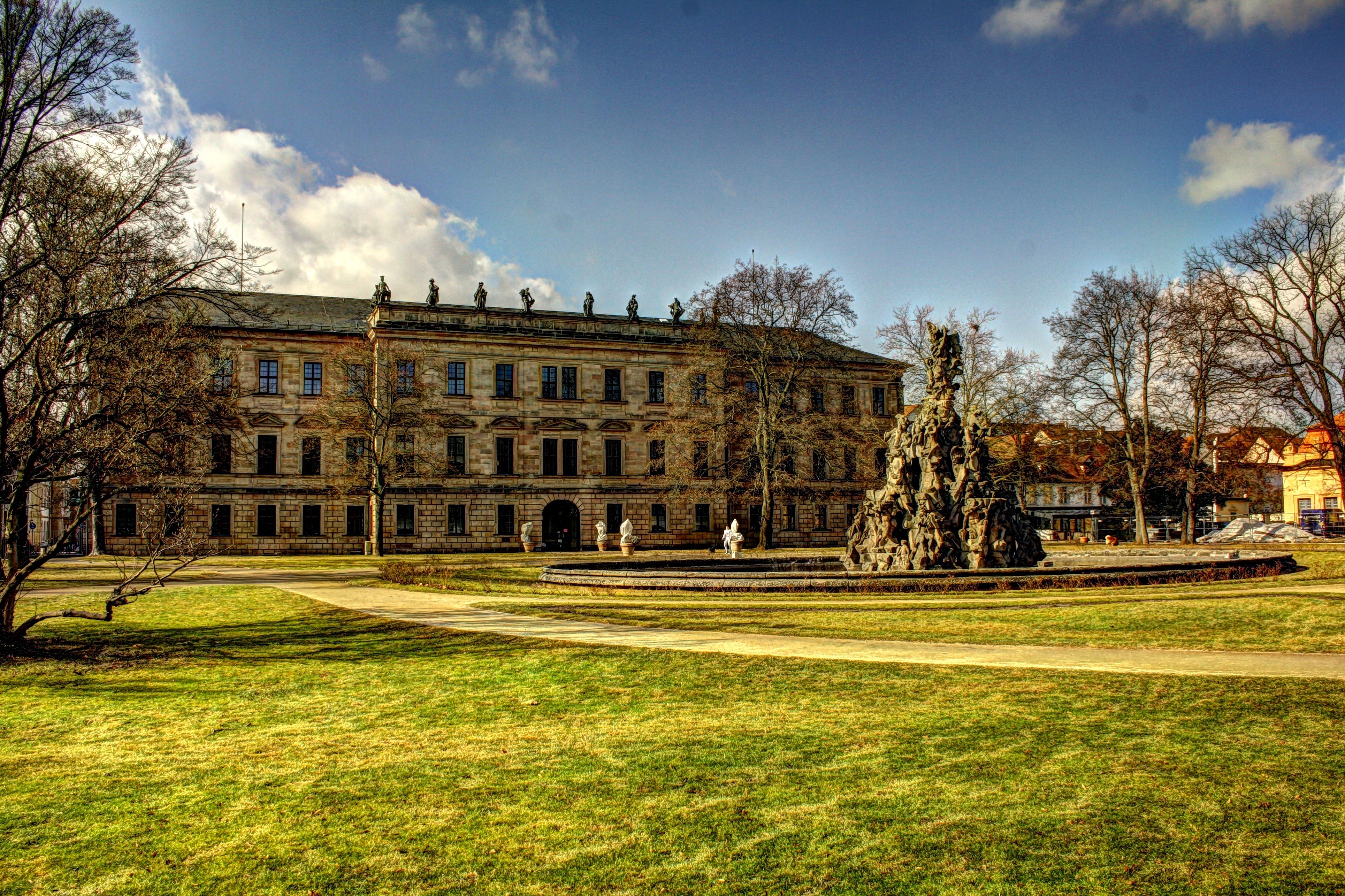 Erlangen Palace - Palace Garden side by hans64-kjz