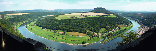 Fortress Koenigstein - look at Elbe valley by hans64-kjz