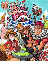 one piece tea party by Djiguito