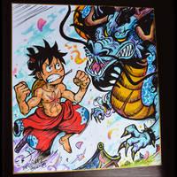 Luffy vs Kaido Wanokuni
