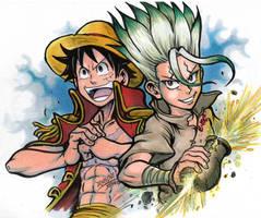 One Piece x Dr Stone