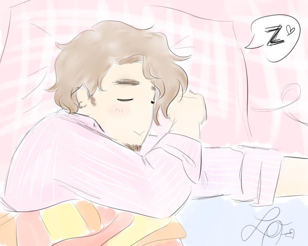 Rafael sleeping x3 by Midori28Sakura