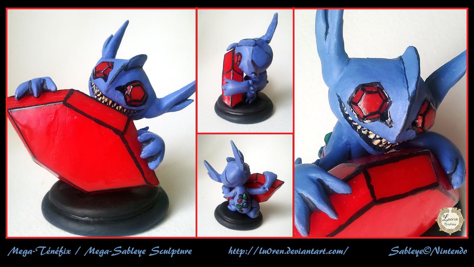 Mega tenefix mega sableye sculpture by lu0ren on deviantart - Tenefix evolution ...